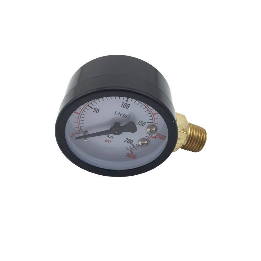 High Pressure Replacement Gauge, 0 - 3000 PSI, Home brewing Co2 Pressure Regulator Gauge (3)