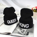 King Queen Winter Hats For Women Men Bonnet Couple Hip Hop Hot Sale Outdoor Ski Sports Warm Knitted couple Cap Skullies Beanies