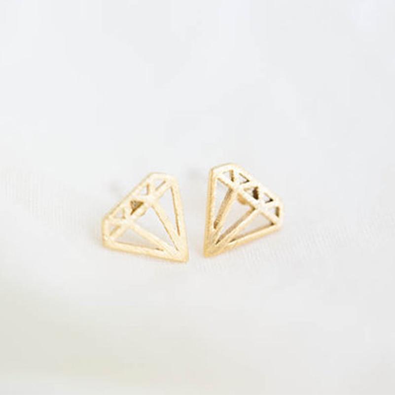 Shuangshuo Boho Geometric Earrings for Women Geometric Stud Earrings Fashion Jewelry Silver Earrings Geometric Earing oorbellen silver plated rhinestone geometric stud earrings set