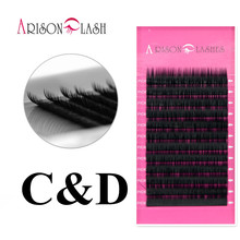 All Size C D Curl 11-14mm synthetic mink high quality lashes extension Beauty black thick soft Makeup Tool Free shipping