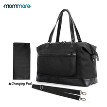 mommore Large Diaper Bag Travel Duffel Tote for Mom and Dad with Changing Pad Capacity Shoulder