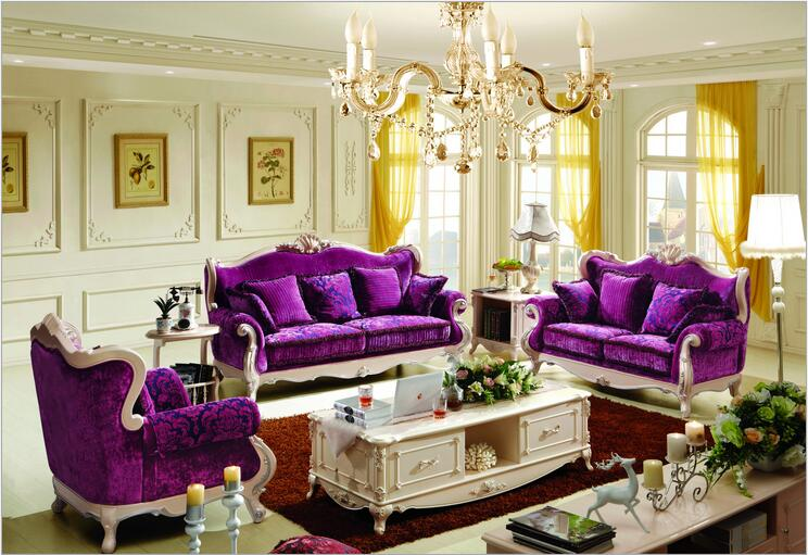 High Quality  European  Antique Living Room Sofa Furniture Genuine Leather Set P10120