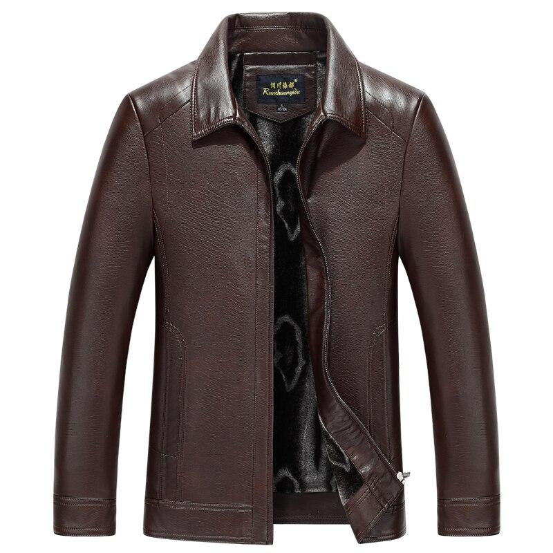 Mode Automne Manteau Peau jaune brown 1755 Mouton Zipper Printemps Nouveau Véritable Cuir En Vêtements Hommes De Veste Noir Brown dk Pw775qvW