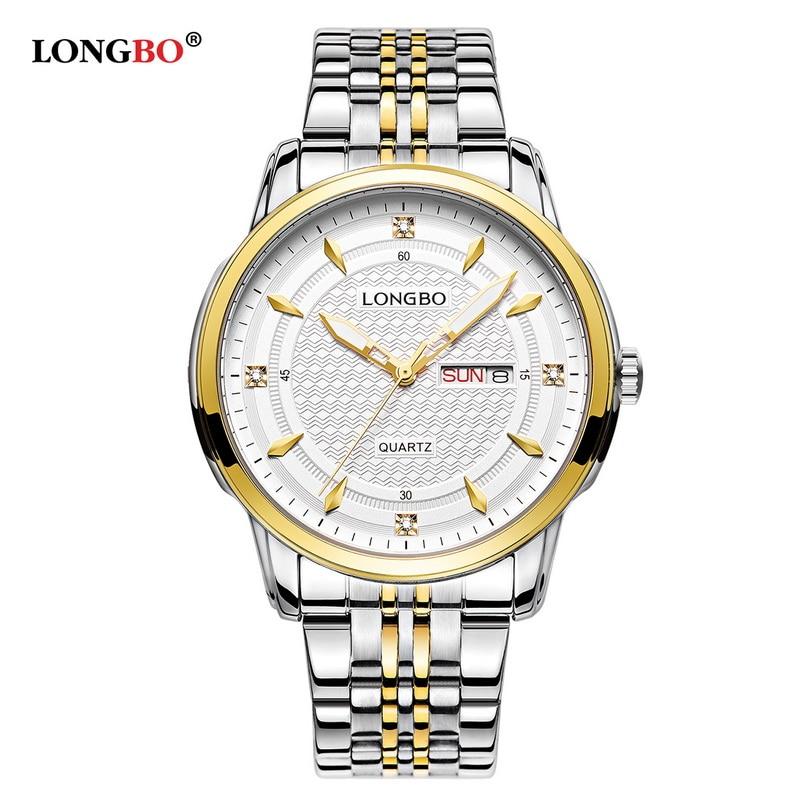 LONGBO Brand Sport Army Chronograph Analog Watches Couple Complete Calendar Steel Waterproof Quartz Wristwatch Montre Homme 5006