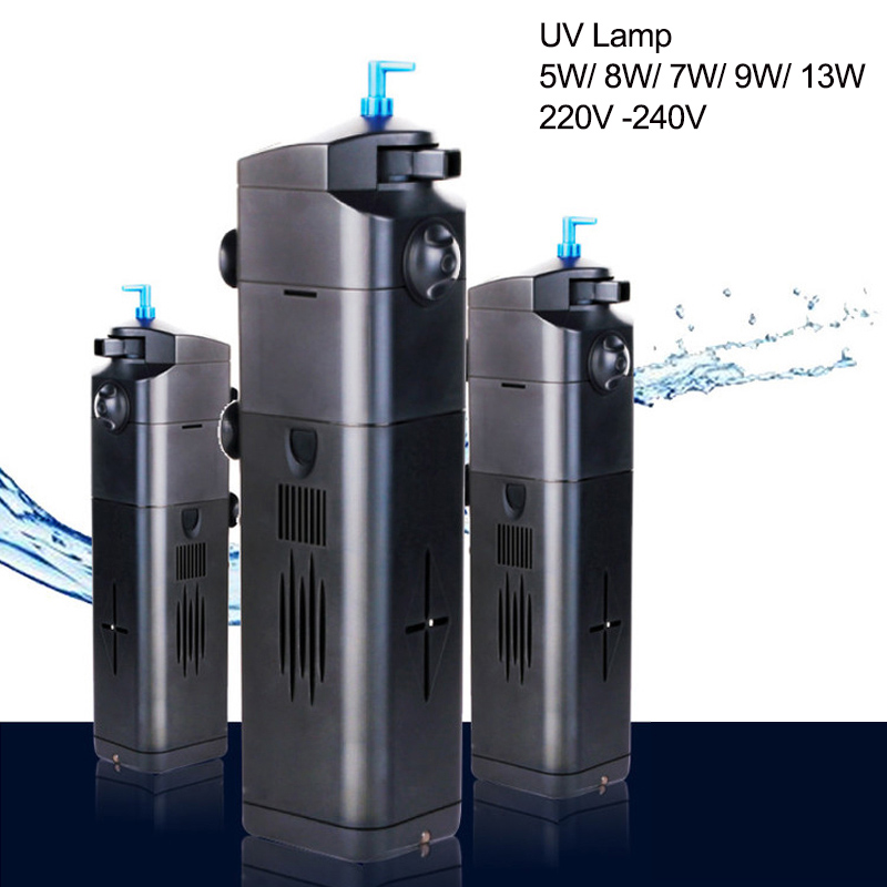 220v 5 8 9 13w fish tank aquarium uv sterilization filter for Uv filter for fish tank