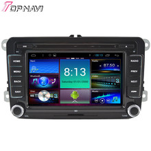 "Topnavi 7"" Quad Core Android 4.4 Car DVD Multimedia Player for VW Universal Autoradio GPS Navigation Audio Stereo Bluetooth"