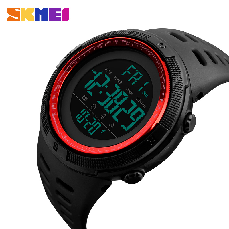Men's Watches Dive 50m Digital LED Army Sports Watch Mens Casual Electronics Wristwatches Man Clock Relojes Hombre 2018 SKMEI