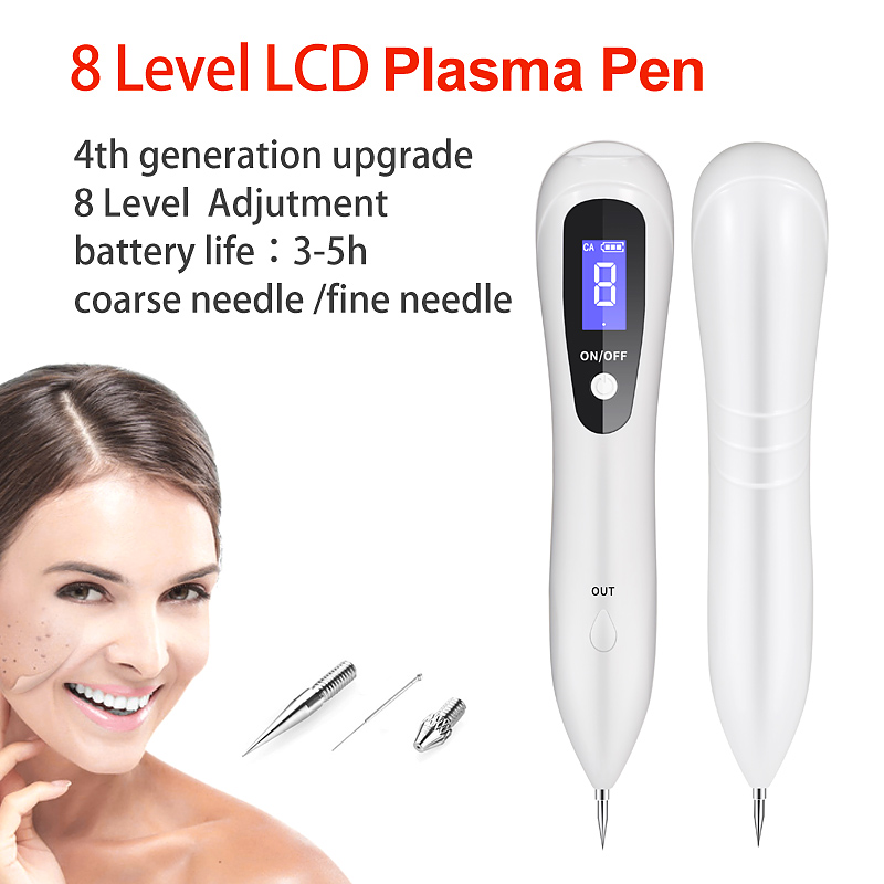 8 Level LCD Laser Plasma Pen Remove Tattoo/Mole Removal Face Skin Tag Removal Freckle/Wart Dark Spot Remover Skin Care Machine