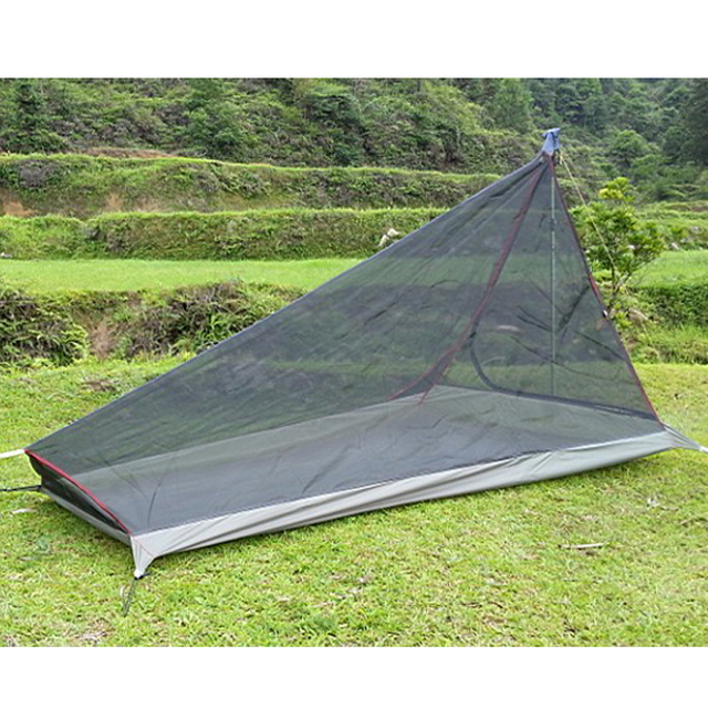 1PCS 590G Ultralight Outdoor Camping Tent With Mosquito Net Summer 2 Person Single Tents Travel Army Green Vents Mosquito Net