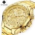 WWOOR Relogio Masculino мужские часы Роскошные Известный Топ бренд Мужская мода Повседневное платье часы военные кварцевые наручные часы золото