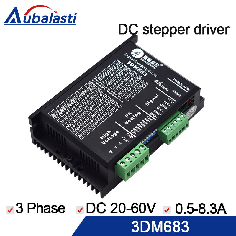 3 Phase stepper motor driver leadshine 3DM683 Stepper Motor Driver 20-60VDC 0.5-8.3A stepper driver use for cnc engraver machine free dhl used 3 phase cr06550 ac servo motor driver leadshine vs a4988 stepper motor driver module ems