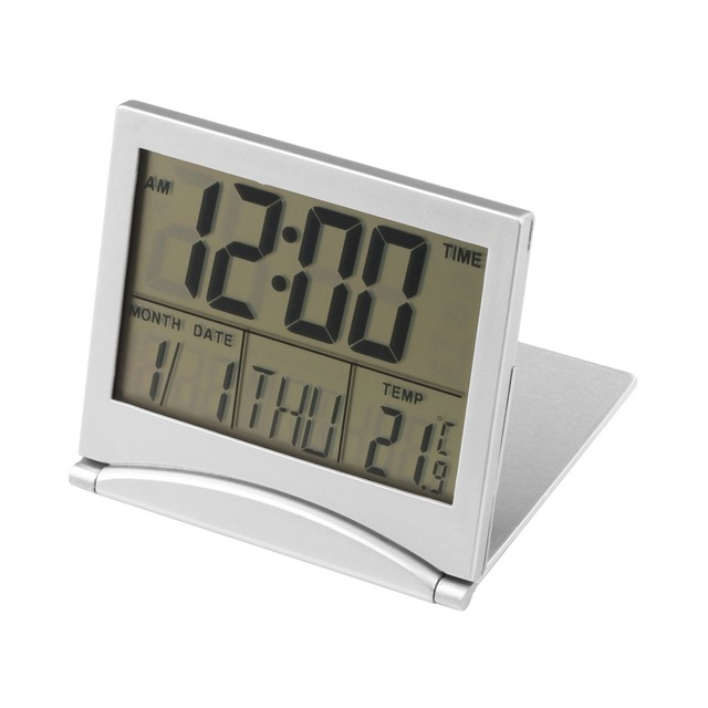 Home Digital Desk Clock LCD Thermometer Calendar Alarm Flexible Cover Electronic Watch Gift For Kids Home Decoration Clock