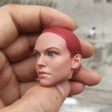 купить New 1/6 Scale Jedi Agent Tracey Gril Head Sculpt with Red/Black PVC Hard Hair for 12'' Female figure boy accessory дешево