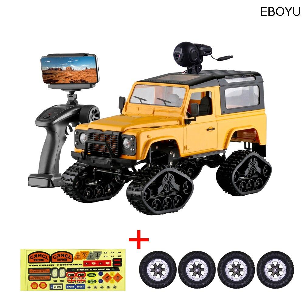 EBOYU FY003AB WiFi 2.4 Ghz 1/16 4WD pneus neige camion tout-terrain RC camion + pneus tout-terrain WiFi FPV 0.3MP caméra classique rétro RTF