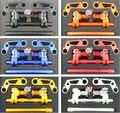 "BWS Motorcycle Adjustable Steering Handle Bar 7/8"" Removable Handlebar System Set Kit Billet Aluminum"