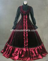 Free Shipping New Victorian Gothic Lolita Dress Ball Gown Prom Steampunk Party Dress
