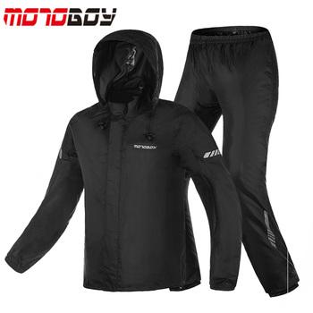 MOTOBOY motocyklowe płaszcz przeciwdeszczowy spodnie garnitur man Split wodoodporna motocykl kurtka przeciwdeszczowa spodnie w nocy odblaskowe M L XL XXL XXXL tanie i dobre opinie 210T