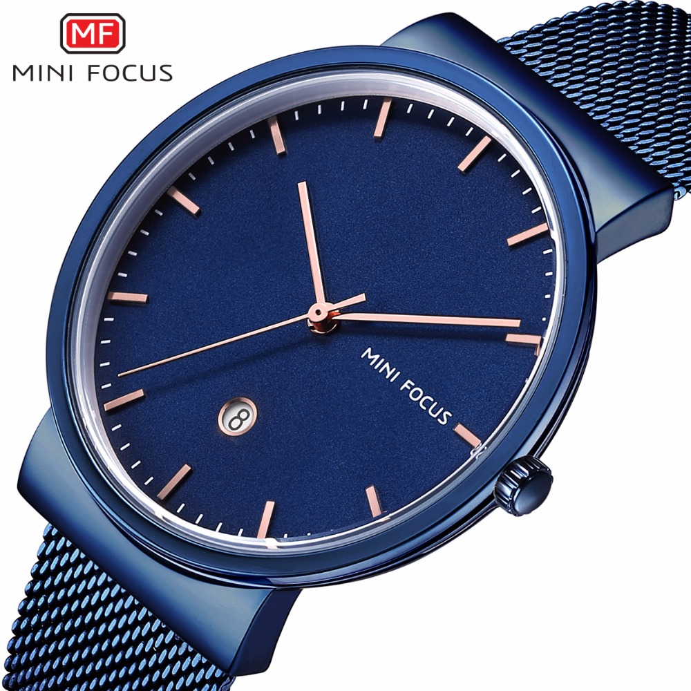 2018 MINI FOCUS Brand Men Watch Luxury Stainless Steel Quartz Sports Watches Men Ultra Thin Date Clock Male Business Wrist Watch longbo ultra thin stainless steel quartz wrist watch for men silver