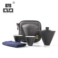 TANGPIN japanese ceramic teapot gaiwan tea cups chinese teasets portable travel sets with bag