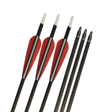 12 Pcs 30 inch Carbon Arrows Spine 300 I.D. 6.2mm Screw Point hunting hunt shooting practice archery bow
