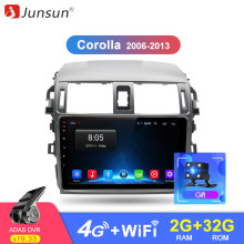 Junsun Android 8.1 4G Car Radio Multimedia Player GPS For Toyota Corolla E140/150 2007 2008 2009 2010 2011 2012 2013 2 din DVD(China)