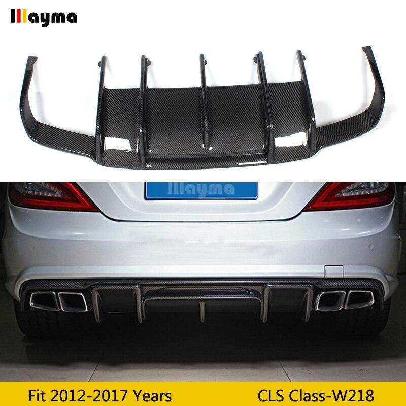 Renntech Style fibre de Carbone lame de pare-chocs arrière Diffuseur pour Mearcedes Benz W218 CLS350 CLS63 AMG Pare-chocs Sport 2011-2014 année