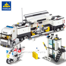 511pcs Police Station Building Blocks  Bricks Educational Toys Model Building Compatible with lego Birthday Gift Toy Brinquedos цена в Москве и Питере