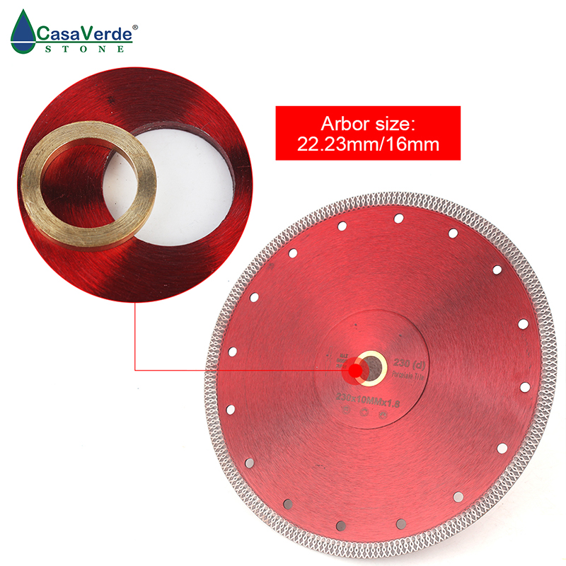 Image 3 - Free shipping DC SXSB07 9 inch super thin diamond porcelain saw blade 230mm for ceramic tile cutting-in Saw Blades from Tools
