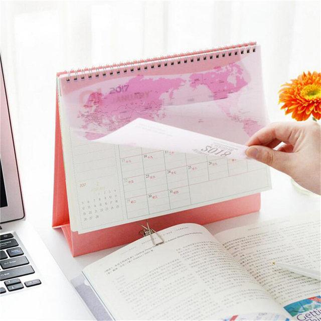 Online shop 2018 desktop calendar world map kraft pvc paper 2018 desktop calendar world map kraft pvc paper paperboard durable smooth inside pages dual metal coils calendars gumiabroncs Gallery