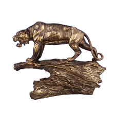 Antique Tiger Shape Resin Crafts Decoration Office Desktop Ornaments Decor Creative Business Gifts High End Accessories
