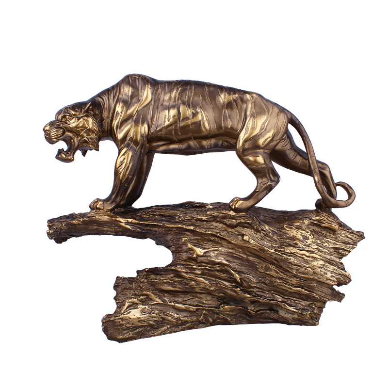 Antique tigre forme résine artisanat décoration bureau décorations de bureau décor créatif affaires cadeaux haut de gamme accessoires