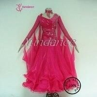 2016 Rose Pink Latest Design Ballroom Dress Dance Performance New B 11737