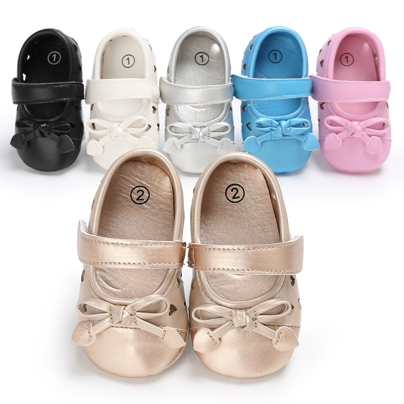 Baby First Walkers Baby Shoes Cute Pu Soft Bottom Non-slip Toddler Shoes for Babies