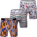 3PCS/Pack JINSHI Men's Boxer Shorts Bamboo Fiber Underwear Mens Boxer Trunks Breathable Brand Shorts Sleepwear Boxer Trunks