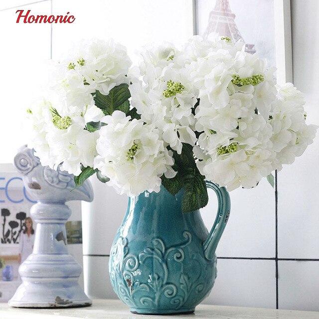 Extrem 6 Têtes chine hortensia soie Artificielle Fleur D'hortensia blanc  XE19