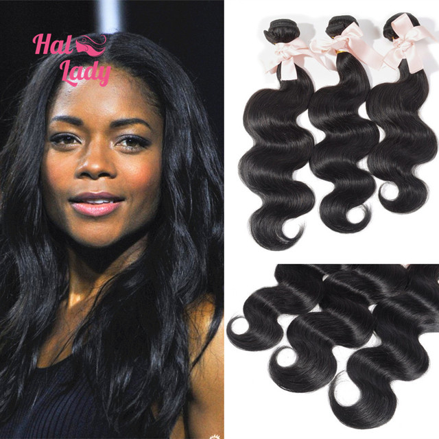 7a 34 36 38 Inch Hair Extension Indian Human Hair 3 Bundles Halo