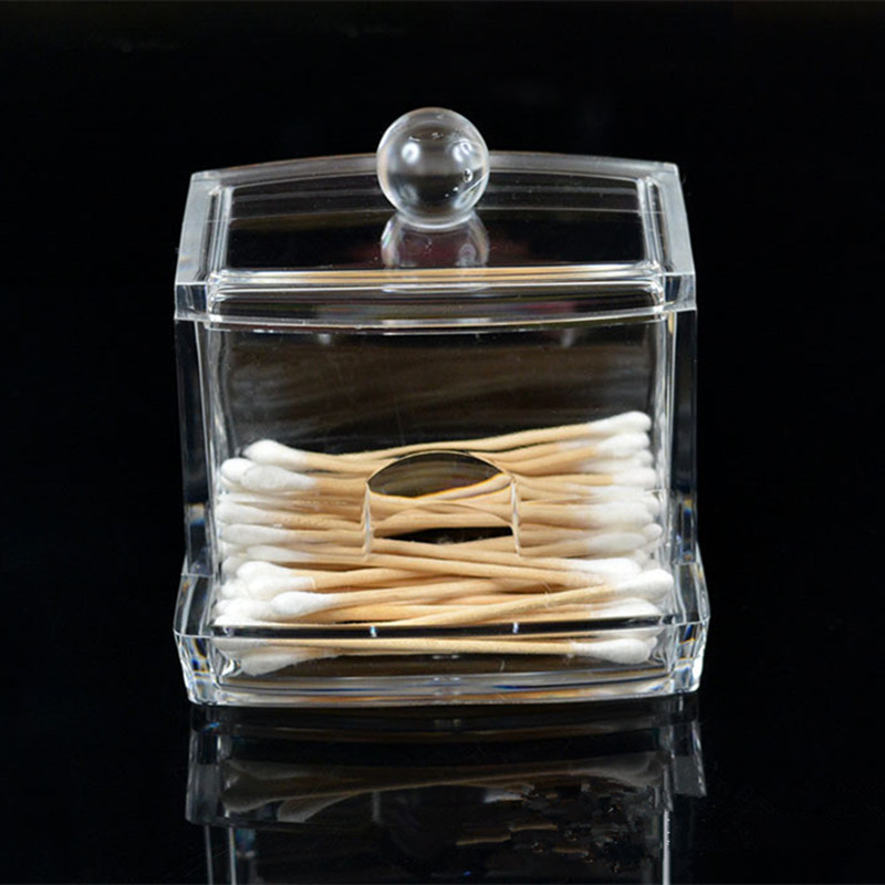 Clear Acrylic Cotton Swab Box Organizer Q Tip Storage Holder Women Cosmetic  Makeup Tool Box With Lid Jewelry Display Holder In Storage Boxes U0026 Bins  From ...