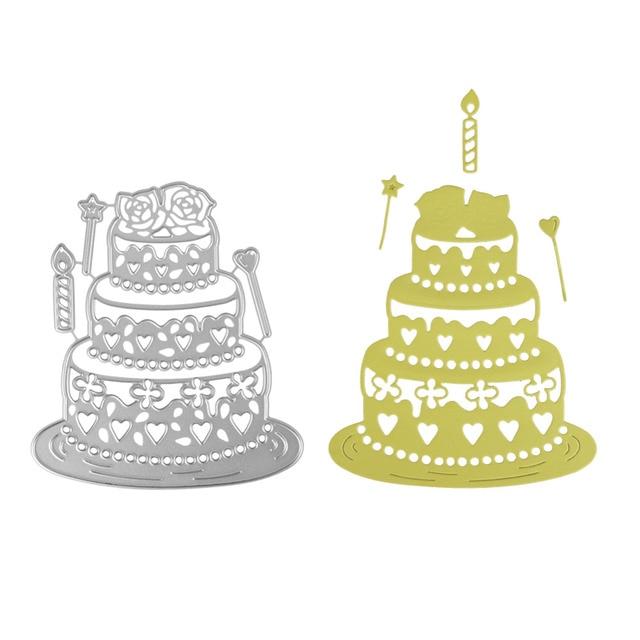 Bi fujian lace layer birthday cake stitched frame Metal Craft ...