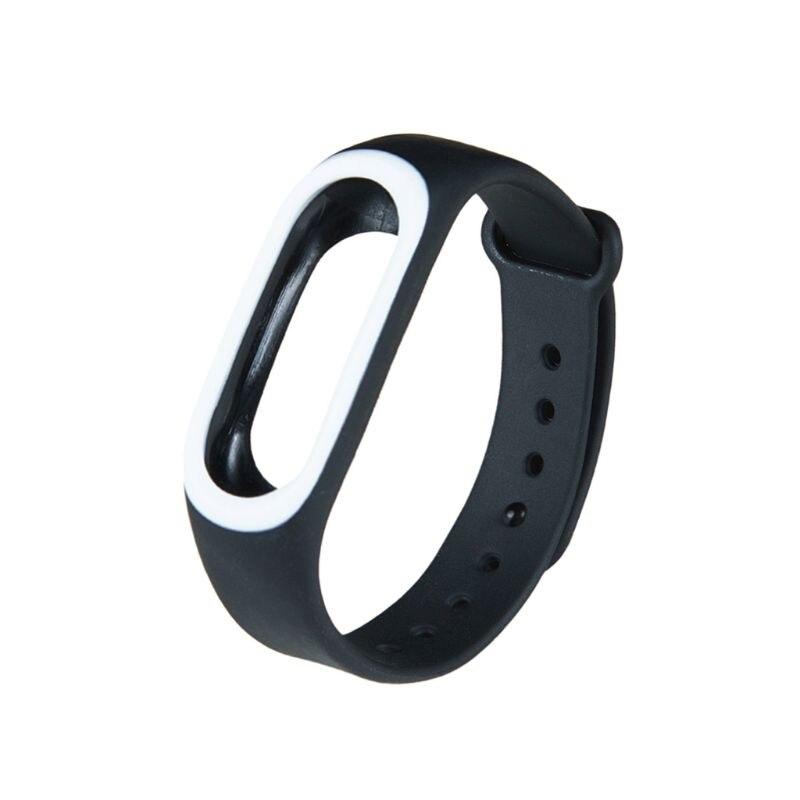 Силиконовые Красочные Браслет спорта ремешок для Xiaomi Эй плюс Smartband - Цвет: BK