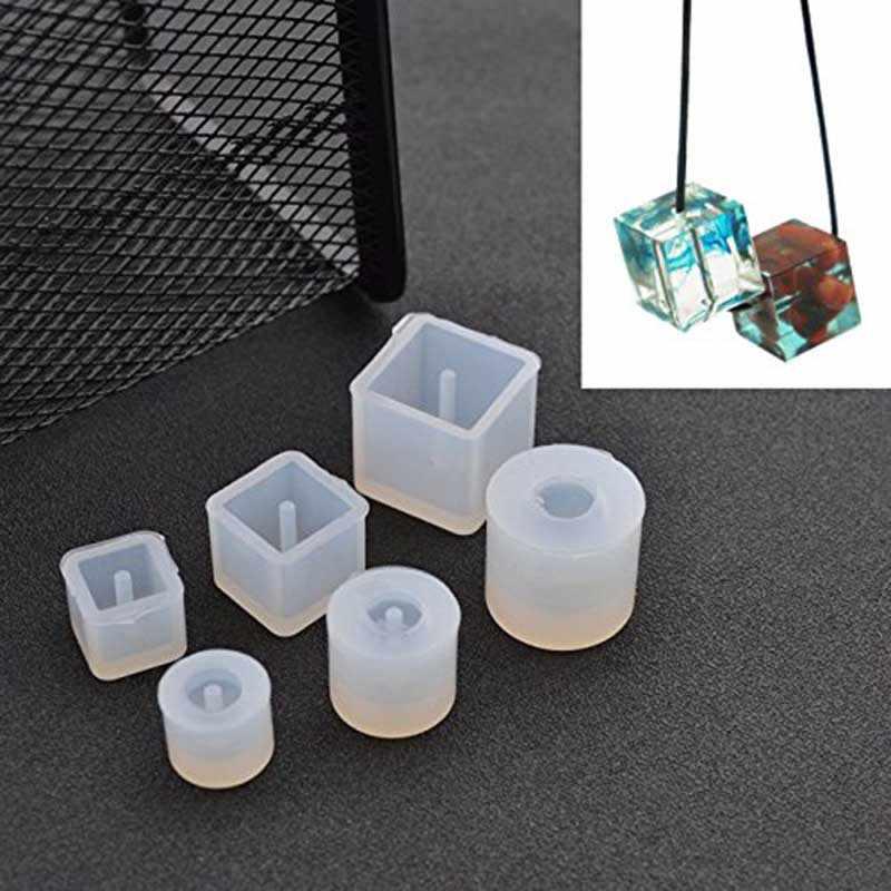 3d61185a5b5f Molde de silicona cuadrado redondo de 6 piezas resina epoxi de ...