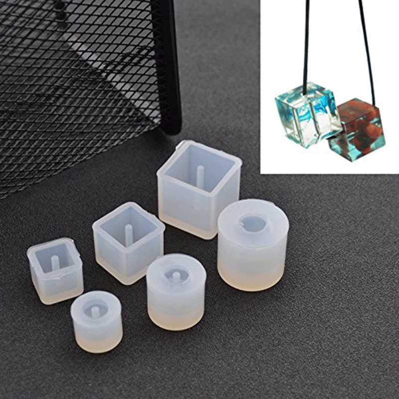 6Pcs Round Square Silicone Mold Epoxy Casting Resin for Jewelry Beads Pendant Bangle Bracelet Making Mold DIY Hand Craft Tool silicone rubber omelette with hand held silicone mold