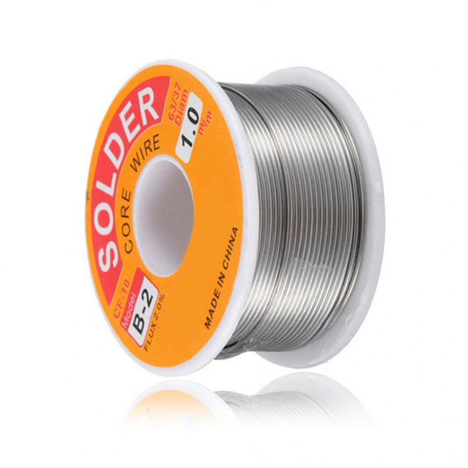 50-100g 0.3/0.4/0.5/0.6/0.8/1/1.2/1.5/2mm  63/37 FLUX 2.0% 45FT Tin Lead Tin Wire Melt Rosin Core Solder Soldering Wire