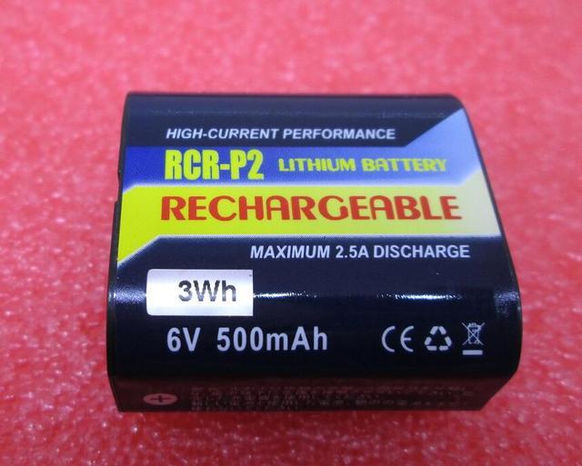 HOT NEW Powersmart CR-P2(RCR-P2)Camera battery CRP2 P2 6V 500mah Rechargeable lithium battery batteries