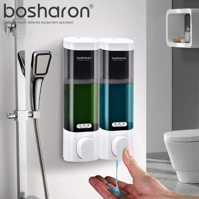Kitchen Liquid Soap Dispenser Wall Mounted ABS Plastic Dispensers For  Shampoo Body Wash Detergent Home Bathroom