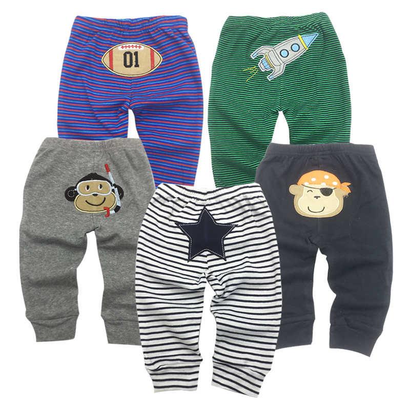5 pçs/lote PP Calças Do Bebê 2019 Moda Modelo Calças Bebê Dos Desenhos Animados de Animais Calças Impressão Calças Do Bebê Desgaste Garoto Bebê 0-24M