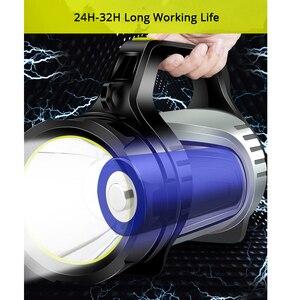 Image 4 - 1200 m brillante potente LED reflector portátil linterna banco de potencia 4400 mAh batería recargable antorcha impermeable al aire libre