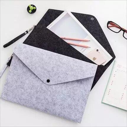 1 Piece Big Capacity Felt Business Briefcase A4 File Folder Bag Desk Document Paper Organizer Case Office School Stationery