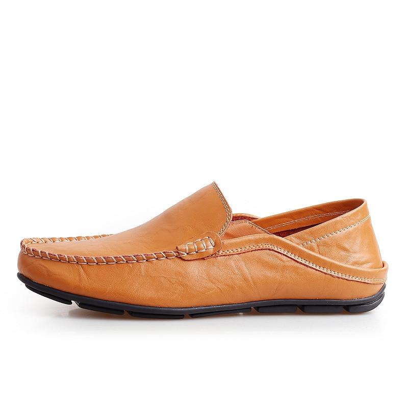 orange De Mocassins Pour Lacets Noir Printemps Autumm Nouveauté Plat Loisirs Cuir Chaussures Sans En Hommes Décontracté Conduite bleu xderCBoQWE