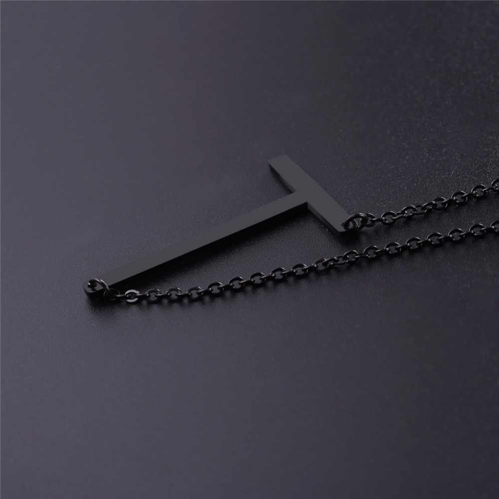 Starlord Letter T Pendants&Necklaces For Women Men Stainless Steel Necklace Personalized Lucky Gift Alphabet Jewelry GP2620