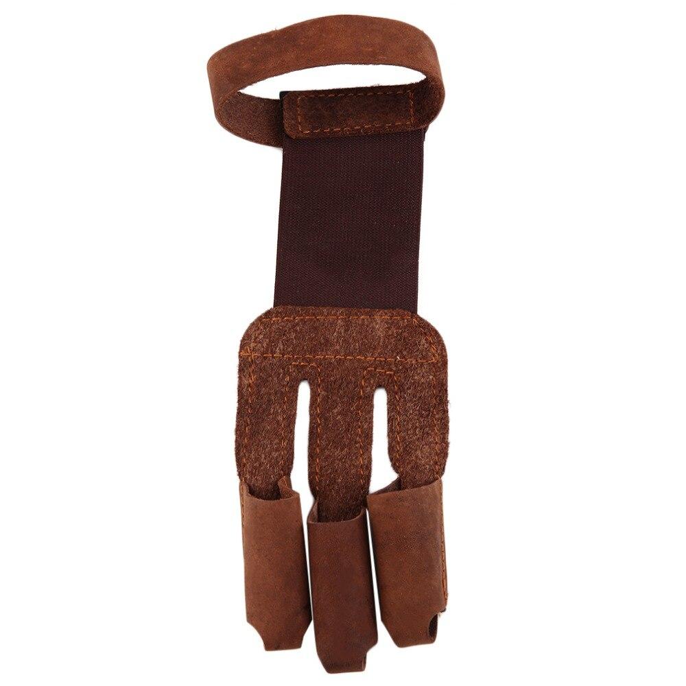 √Archery protect guante 3 dedos tirar arco flecha cuero Tiro ...